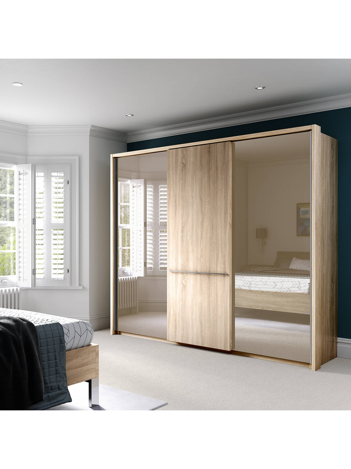 John Lewis Partners Treviso 250cm Wardrobe With Rustic Oak And