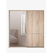 Buy John Lewis Treviso 200cm Wardrobe with Rustic Oak and Bronzed Mirrored Sliding Doors Online at johnlewis.com