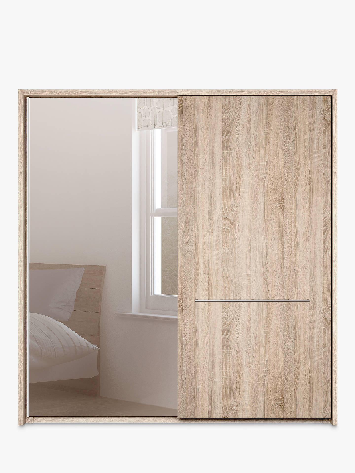 Buy John Lewis & Partners Treviso 200cm Wardrobe with Rustic Oak and Bronzed Mirrored Sliding Doors, Bronzed Mirrored Glass/Light Rustic Oak Online at johnlewis.com