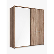 Buy John Lewis Treviso 200cm Wardrobe with Glass and Dark Rustic Oak Sliding Doors Online at johnlewis.com