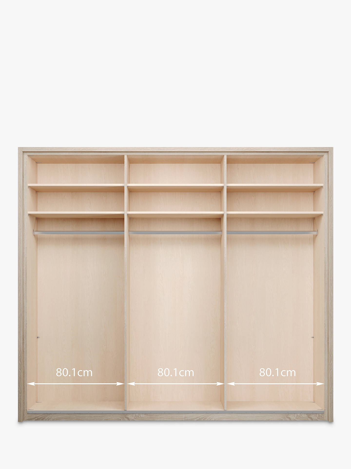 John Lewis Partners Treviso 260cm Wardrobe With Glass And Dark