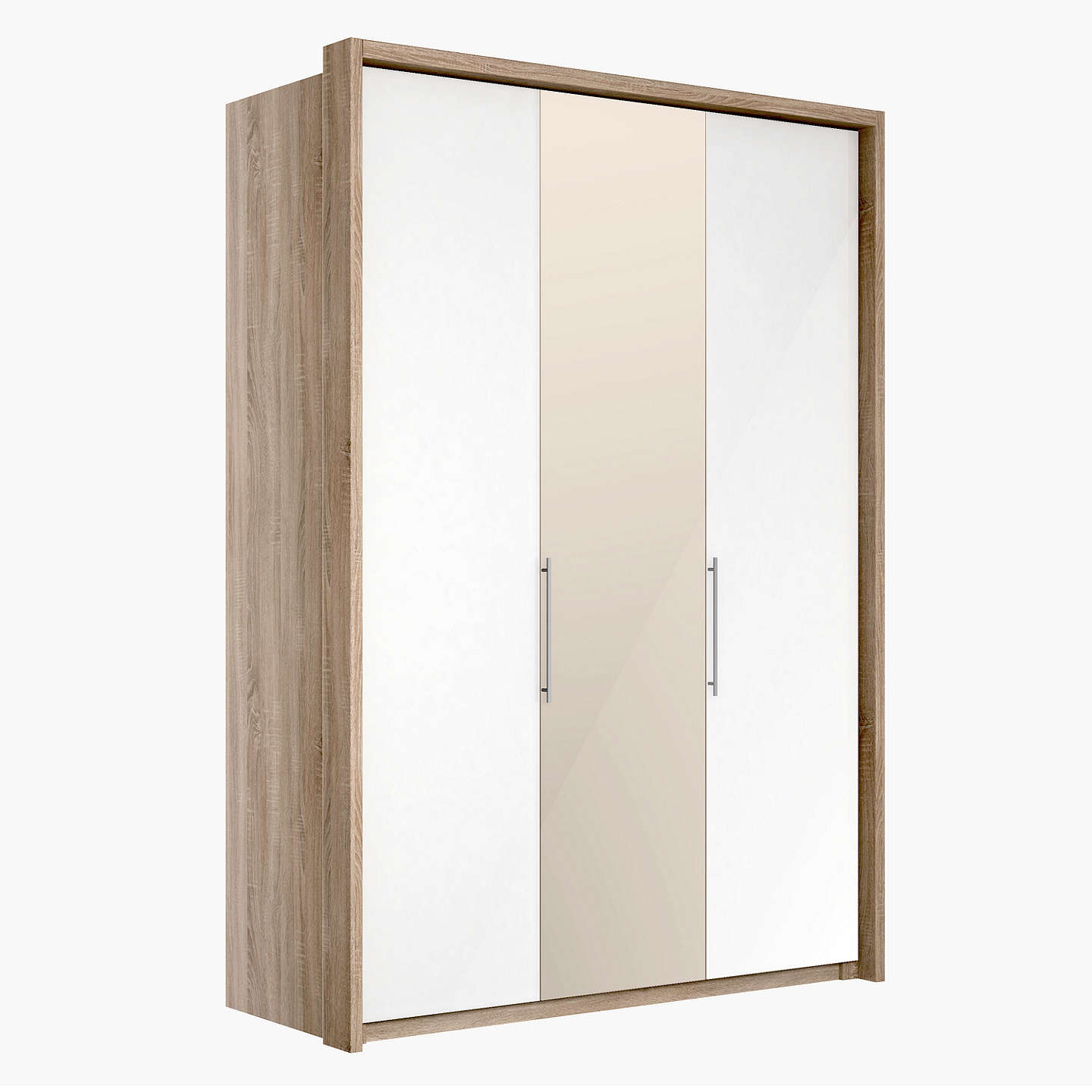 Buyjohn Lewis Satis 150Cm Wardrobe With Glass And Bronzed Mirrored