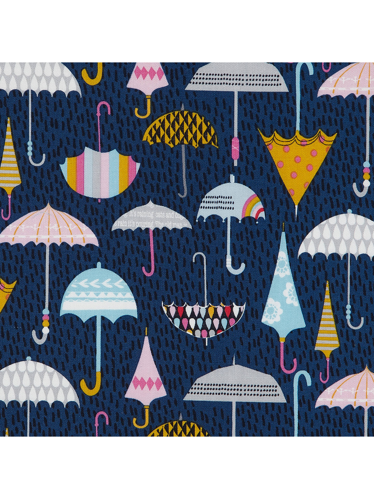 photograph relating to Umbrella Pattern Printable identified as Dashwood Umbrella Print Cloth, Armed service at John Lewis Associates