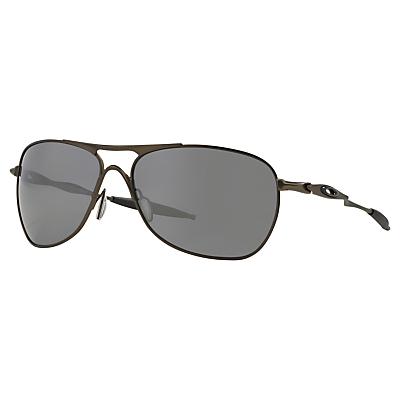 Oakley OO6014 Crosshair Polarised Aviator Frame Sunglasses, Brown