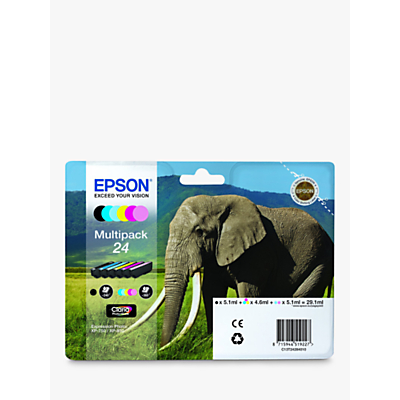 Image of Epson Elephant 24 Ink Cartridge Multipack