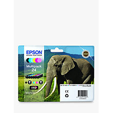 Buy Epson Elephant 24 Ink Cartridge Multipack Online at johnlewis.com