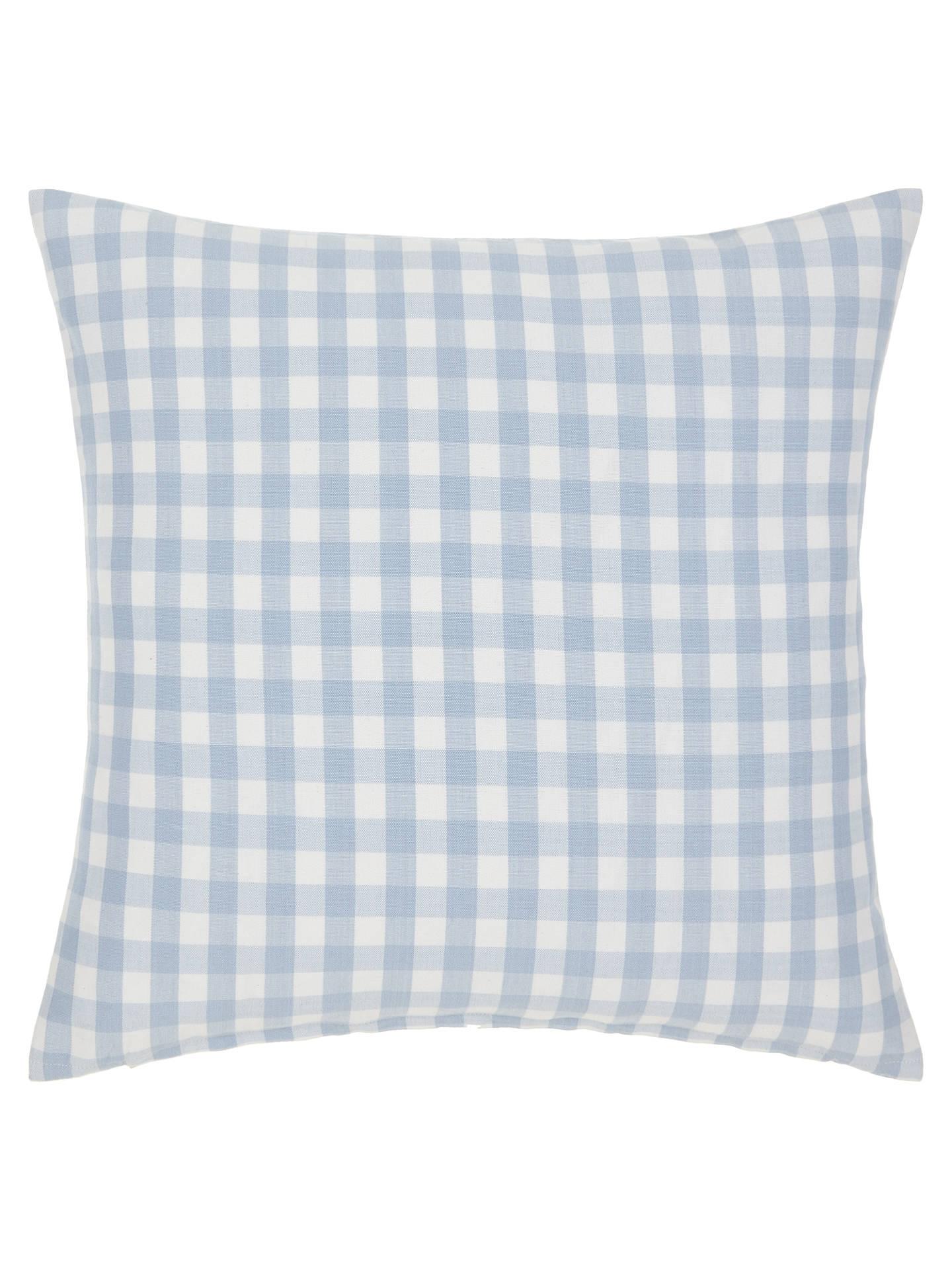 8ca0fdd0a24 Buy John Lewis Gingham Check Cushion, Blue Online at johnlewis.com ...