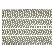 Buy John Lewis Chevron Placemats, Set of 2, Grey/White Online at johnlewis.com