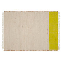 Buy John Lewis Solo Stripe Placemats, Set of 2, Yellow Online at johnlewis.com