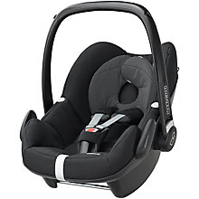 Buy Maxi-Cosi Black Raven Pebble and Pearl Car Seats and Family Fix Base bundle Online at johnlewis.com