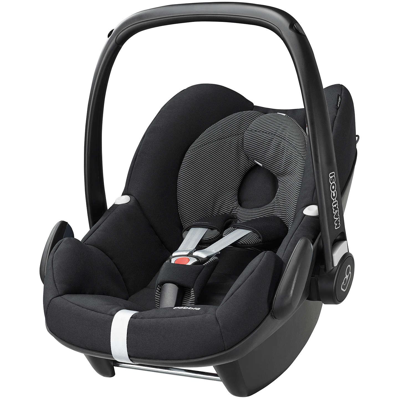 Maxi-Cosi Pebble Group 0+ Baby Car Seat, Black Raven at John Lewis