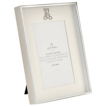 Buy John Lewis Silver Plated Teddy Icon Photo Frame Online at johnlewis.com