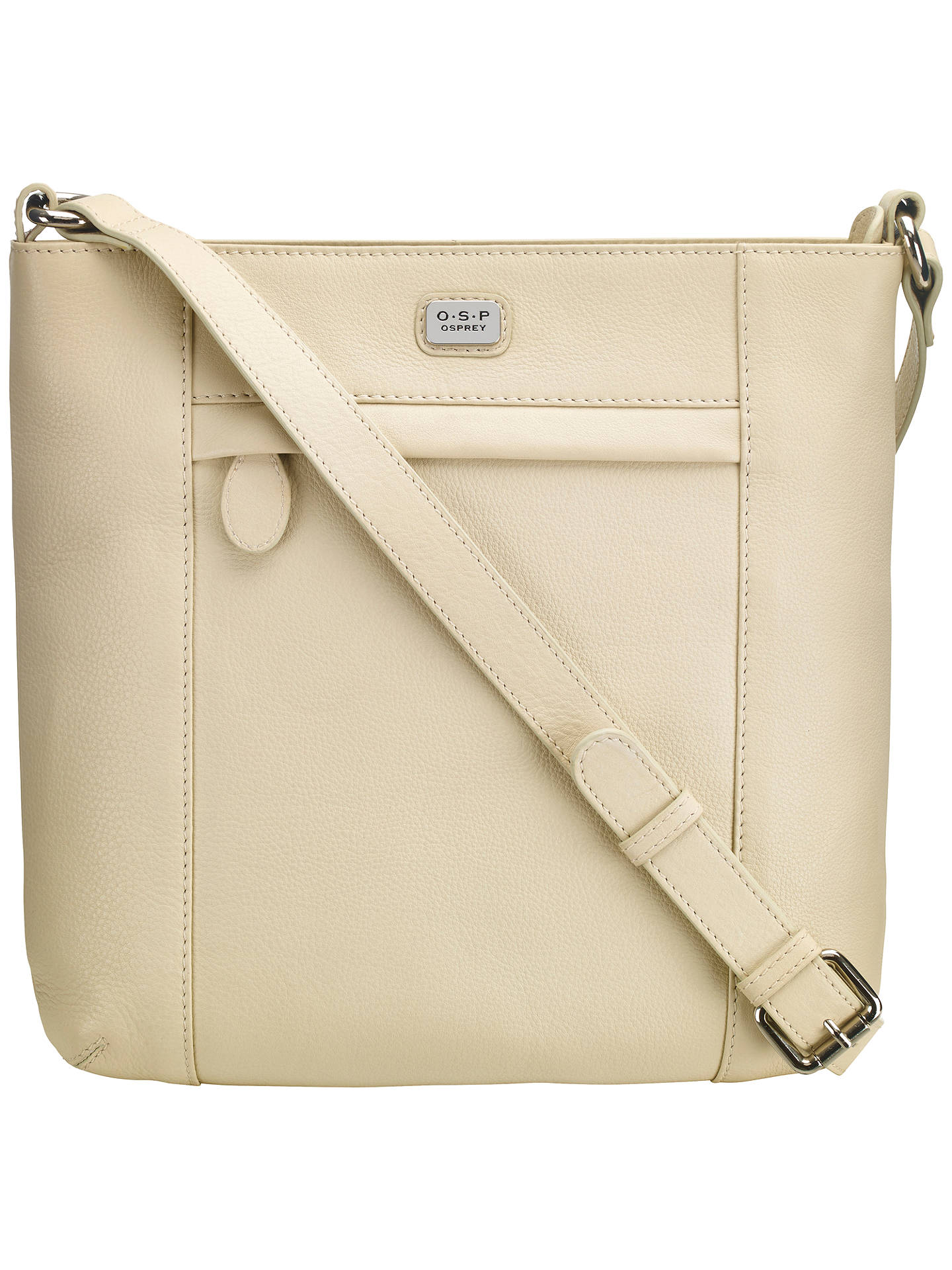 39f978fbb66 Buy O.S.P OSPREY Murano Medium Leather Across Body Bag, Canvas Online at  johnlewis.com