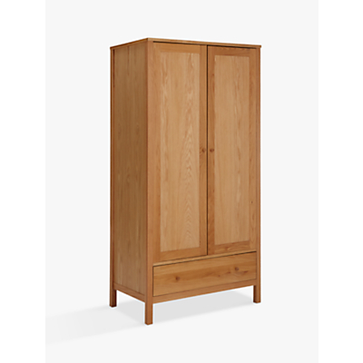 John Lewis & Partners Morgan Double Wardrobe, Oak