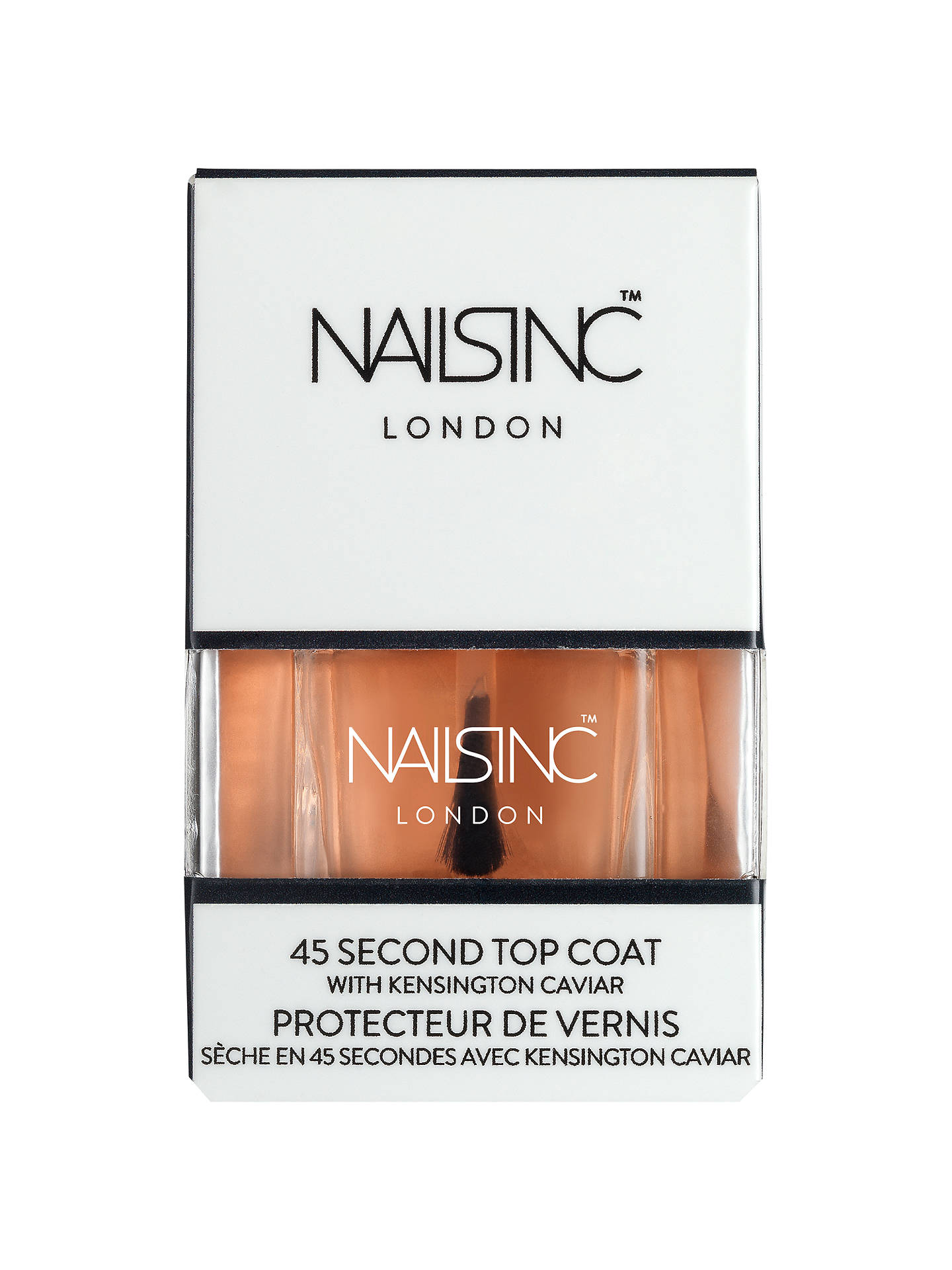 Nails Inc Kensington Caviar 45 Second Top Coat, 14ml at John Lewis ...