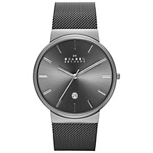 Buy Skagen SKW6108 Men's Ancher Mesh Bracelet Strap Watch, Silver Grey Online at johnlewis.com
