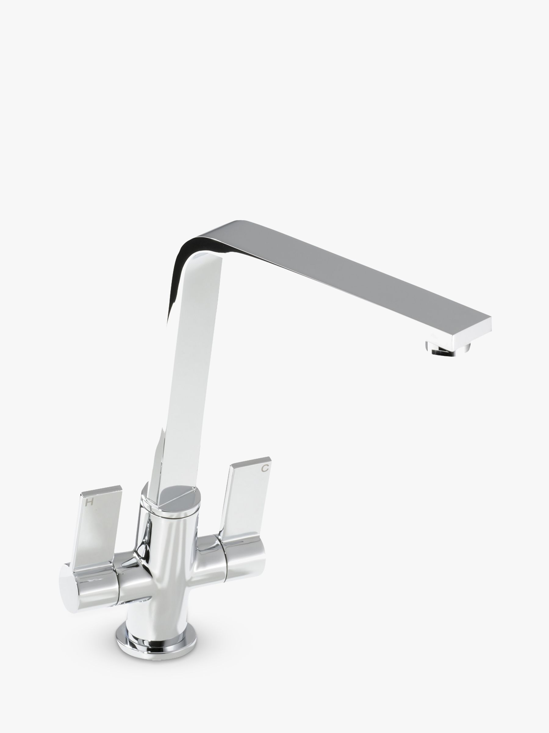 Abode Abode Linear Flair 2 Lever Kitchen Tap