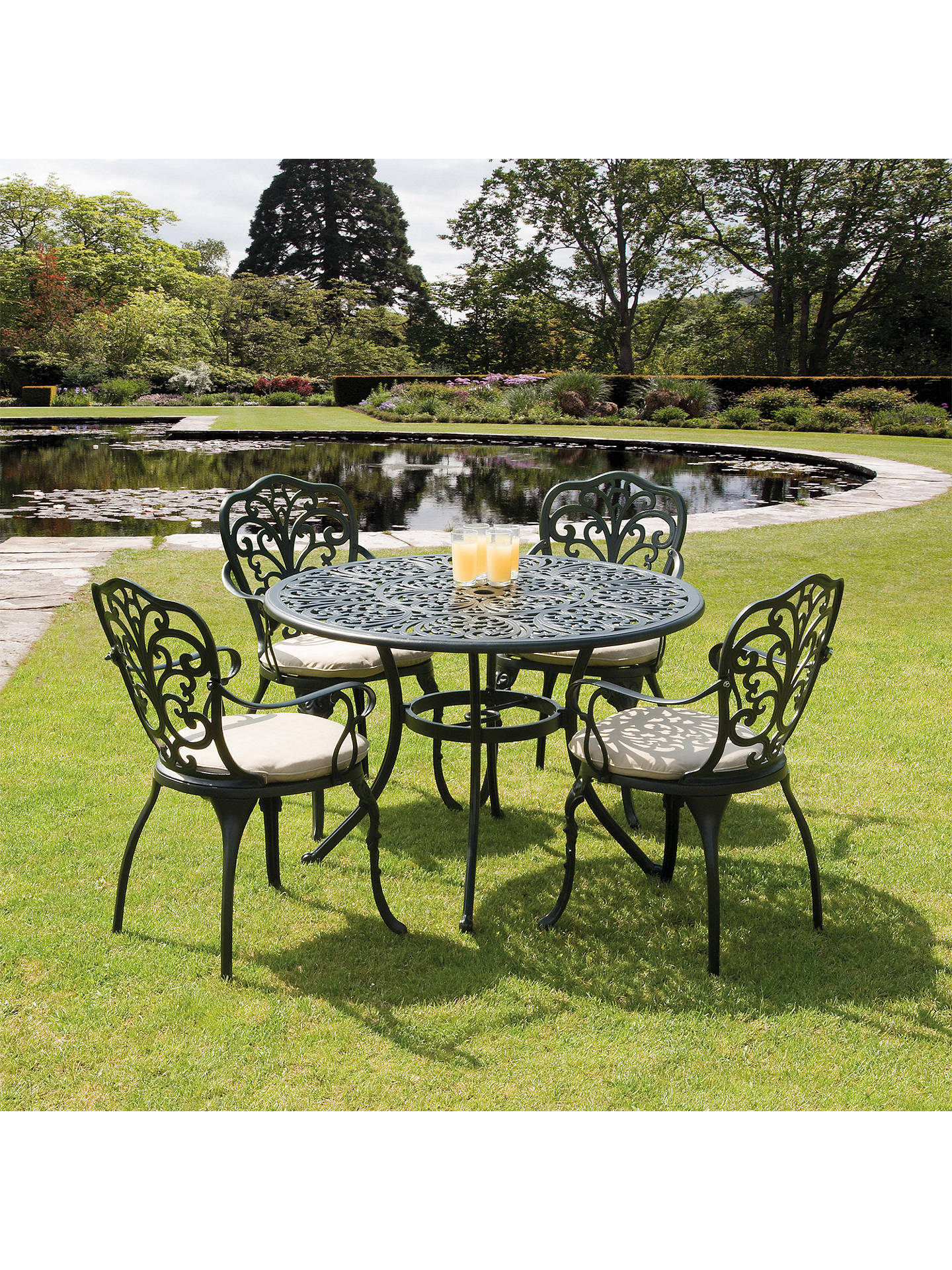 Suntime Sussex Aluminium 10-Seater Outdoor Dining Table and Chairs