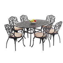 Buy Suntime Sussex Aluminium 6-Seater Dining Set Online at johnlewis.com