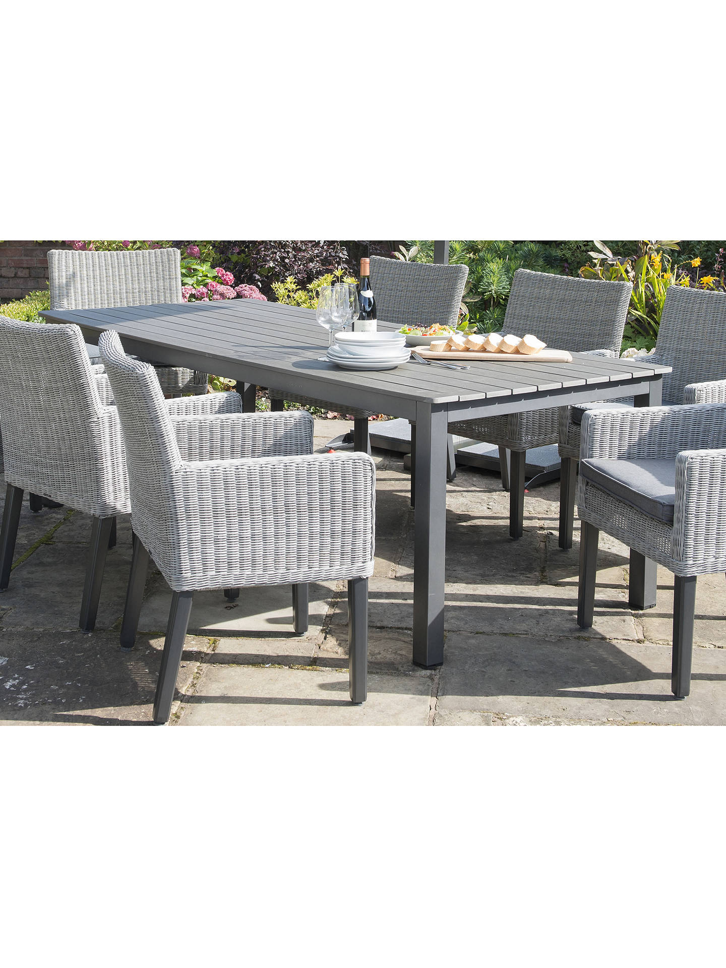 kettler bretagne 8seater outdoor dining table at john