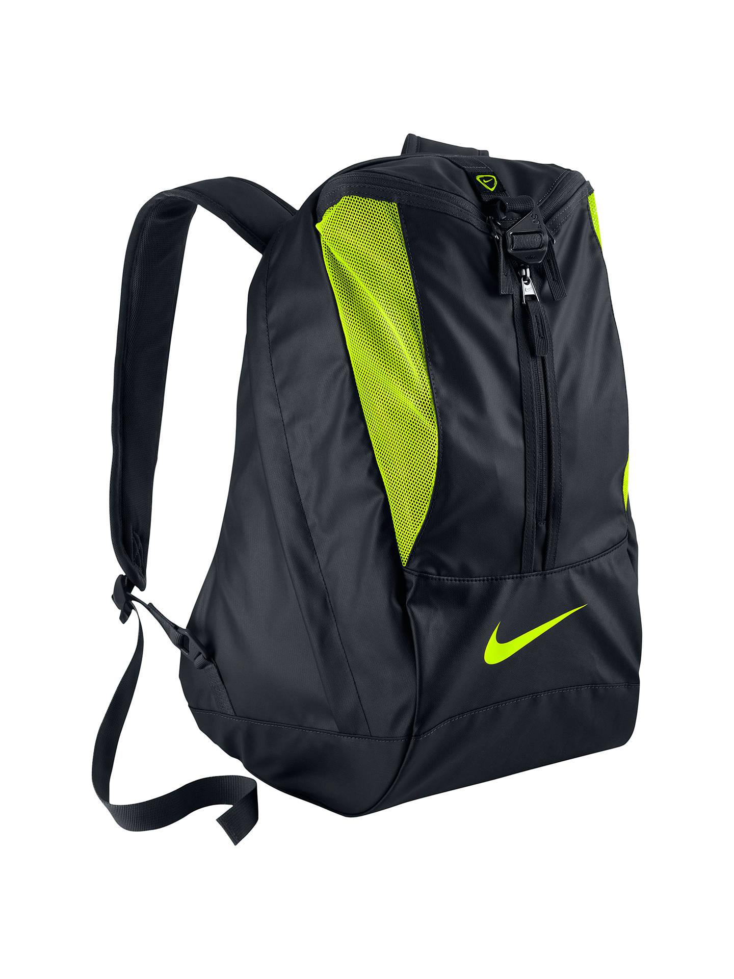 Señuelo Reducción Mecánico  Nike Football Shield Backpack, Black at John Lewis & Partners