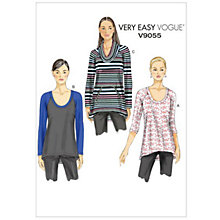 Buy Vogue Very Easy Women's Top Sewing Pattern, 9055 Online at johnlewis.com