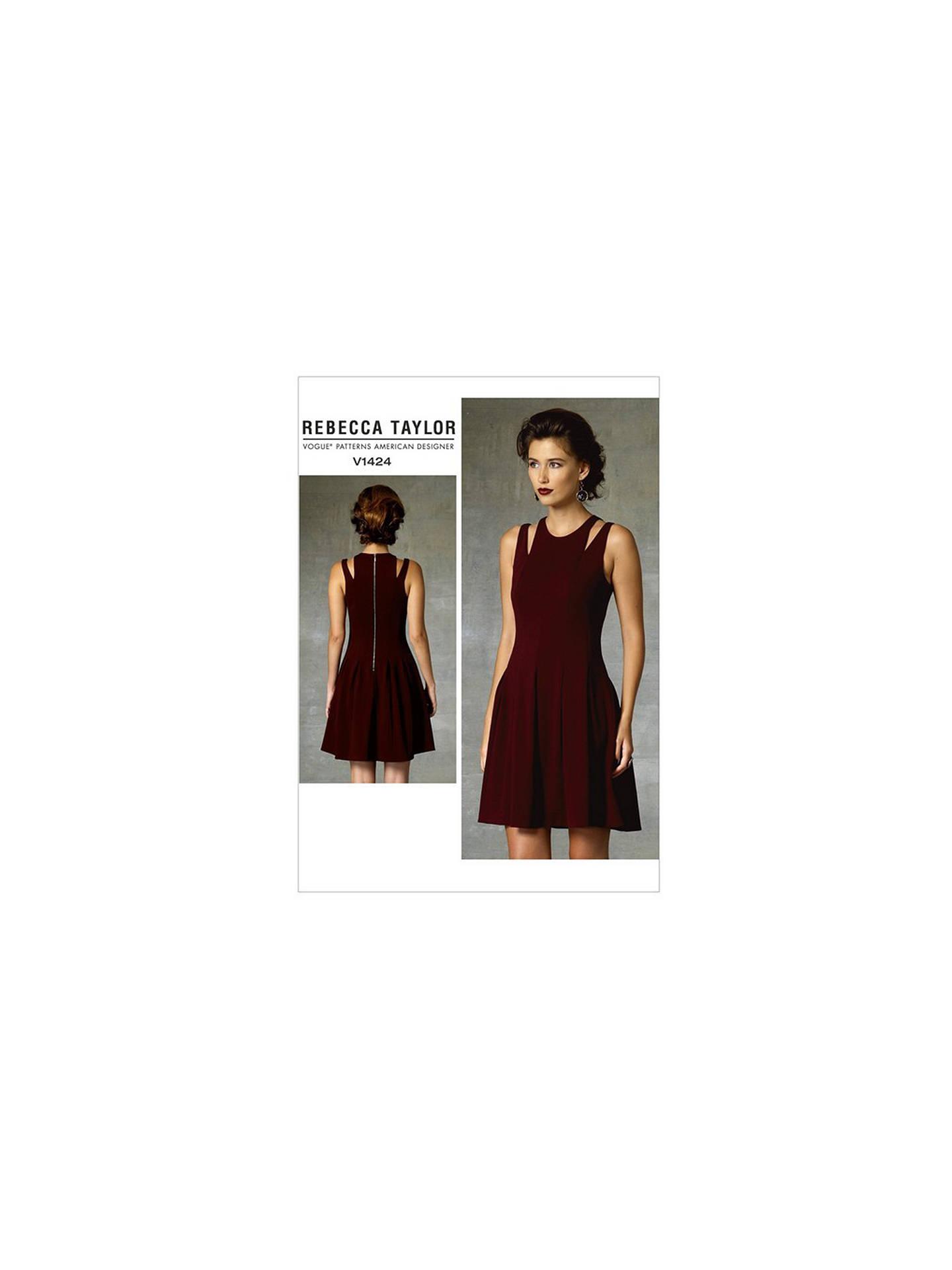 Vogue Women S Rebecca Taylor Dress Sewing Pattern 1424 At