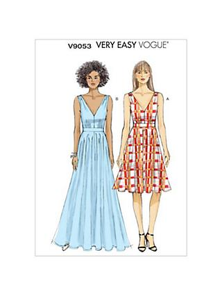 0f747a59a408 Vogue Very Easy Women s Dress Sewing Pattern
