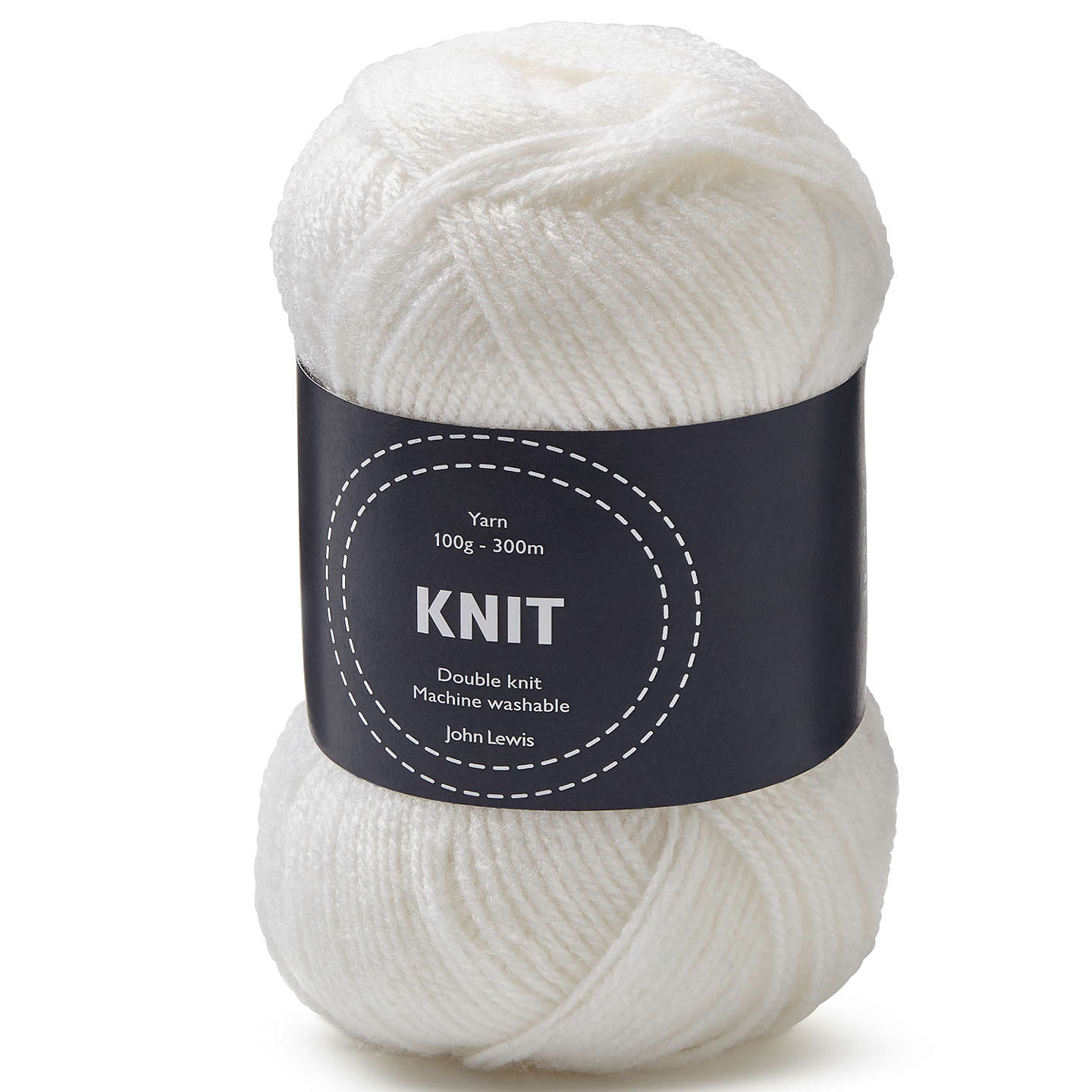 BuyJohn Lewis Acrylic DK Yarn, 100g, White Online at johnlewis.com