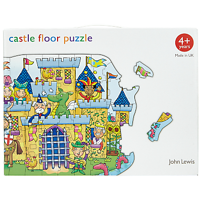 Image of John Lewis & Partners Castle Floor Jigsaw Puzzle, 49 Pieces