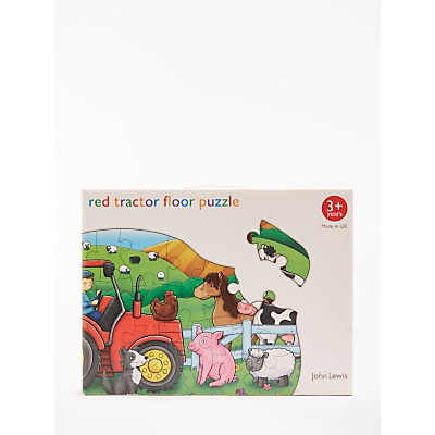 Image of John Lewis & Partners Red Tractor Floor Jigsaw Puzzle, 26 Pieces