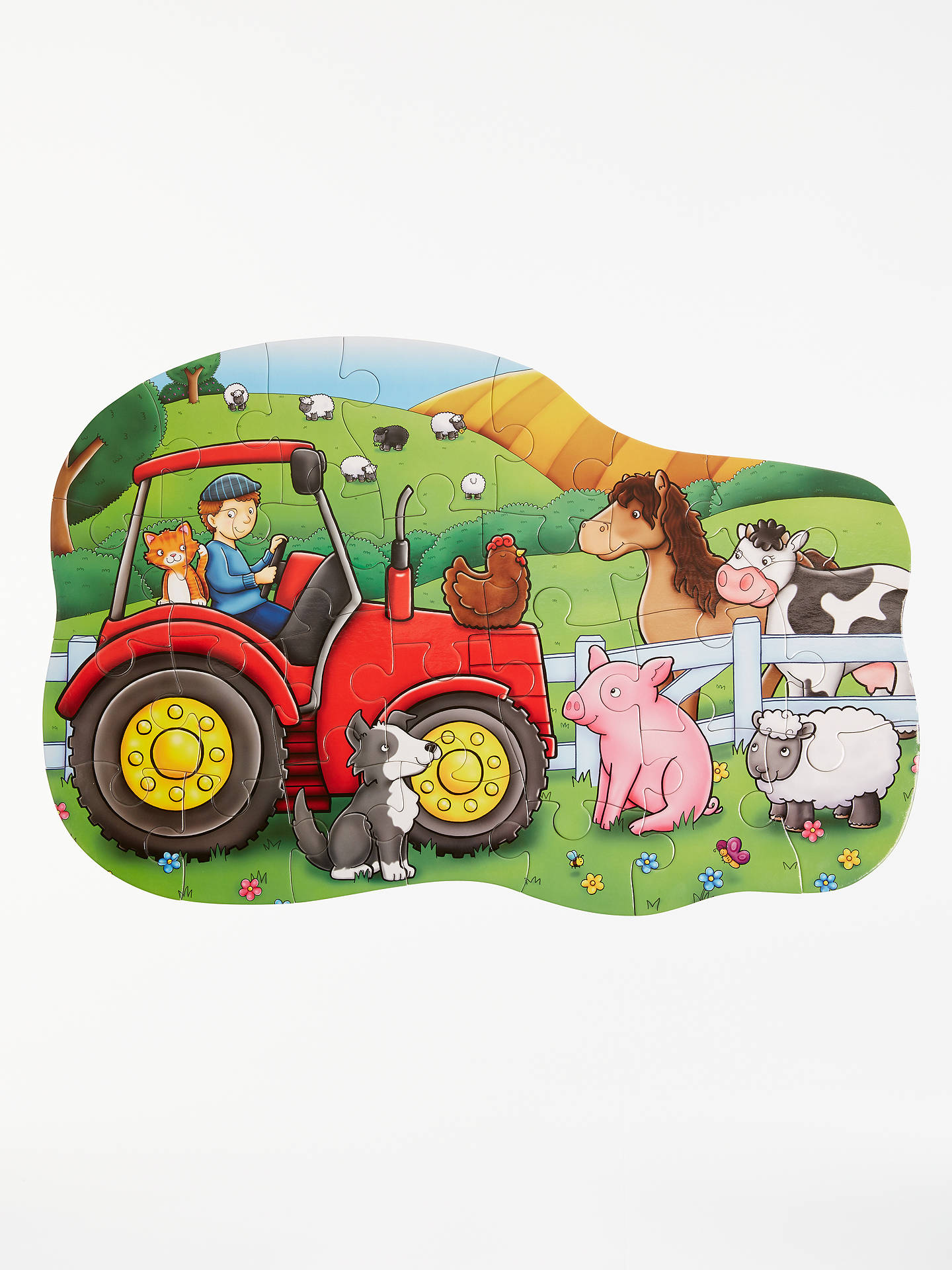 BuyJohn Lewis & Partners Red Tractor Floor Jigsaw Puzzle, 26 Pieces Online at johnlewis.com
