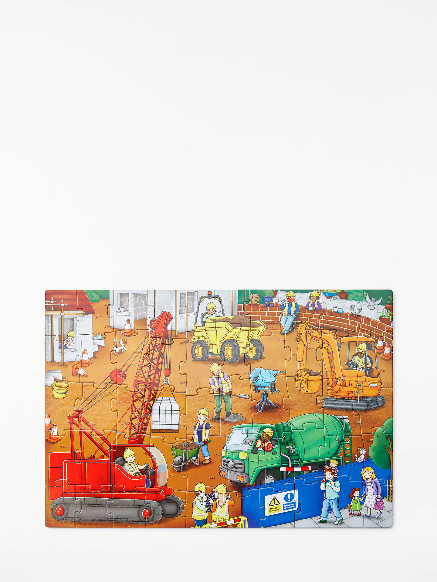 Buy John Lewis & Partners Construction Site Floor Jigsaw Puzzle, 50 Pieces Online at johnlewis.com