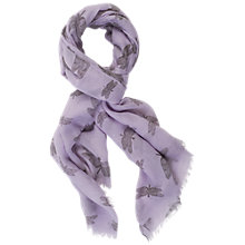 Buy Chesca Butterfly Print Scarf, Soft Lilac Online at johnlewis.com