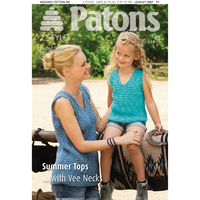 Patons Knitted Summer Top Knitting Pattern at John Lewis