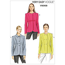 Buy Vogue Women's Jackets Sewing Pattern, 9068 Online at johnlewis.com