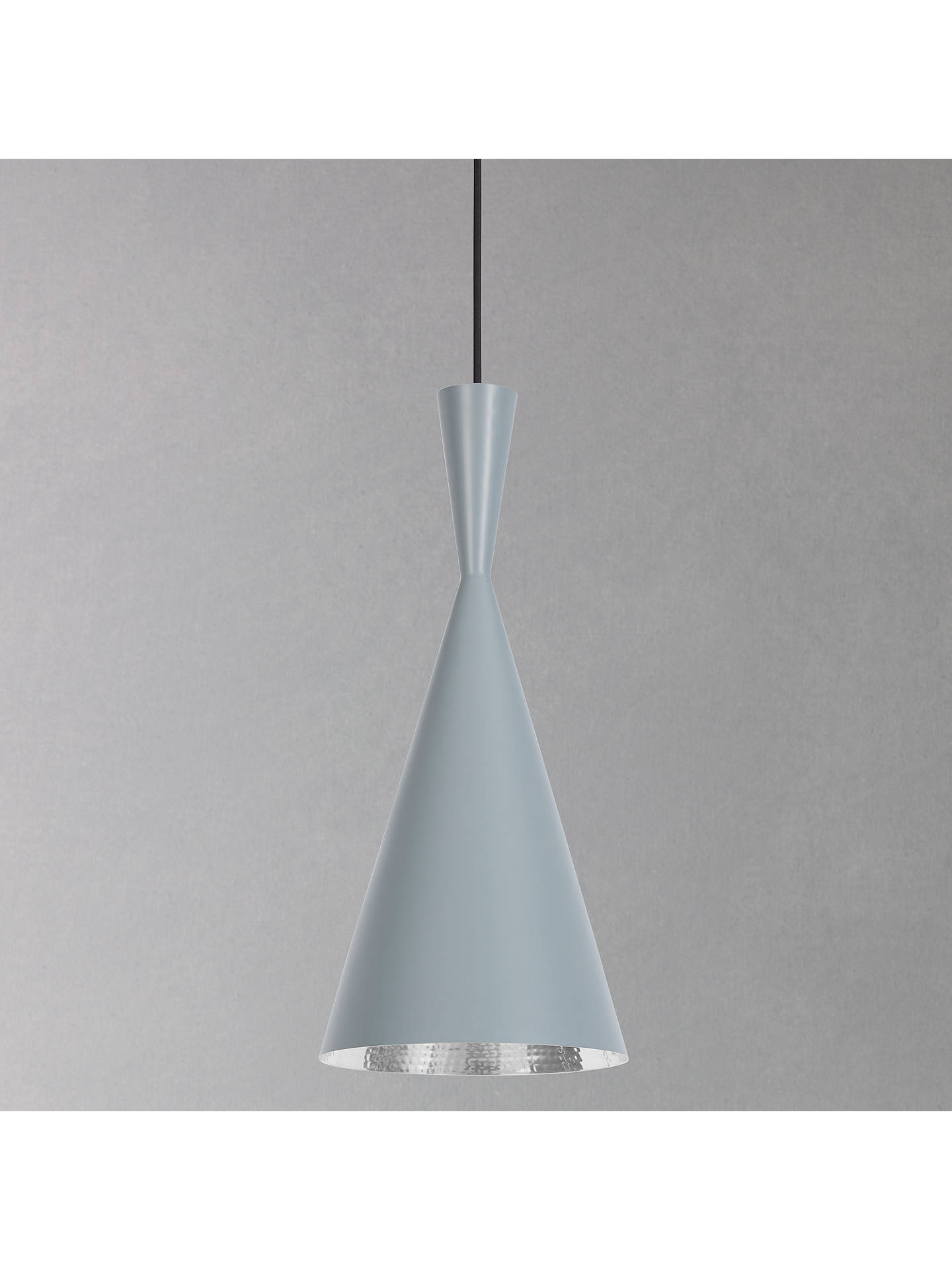BuyTom Dixon Beat Tall Ceiling Pendant Light, Grey Online at johnlewis.com