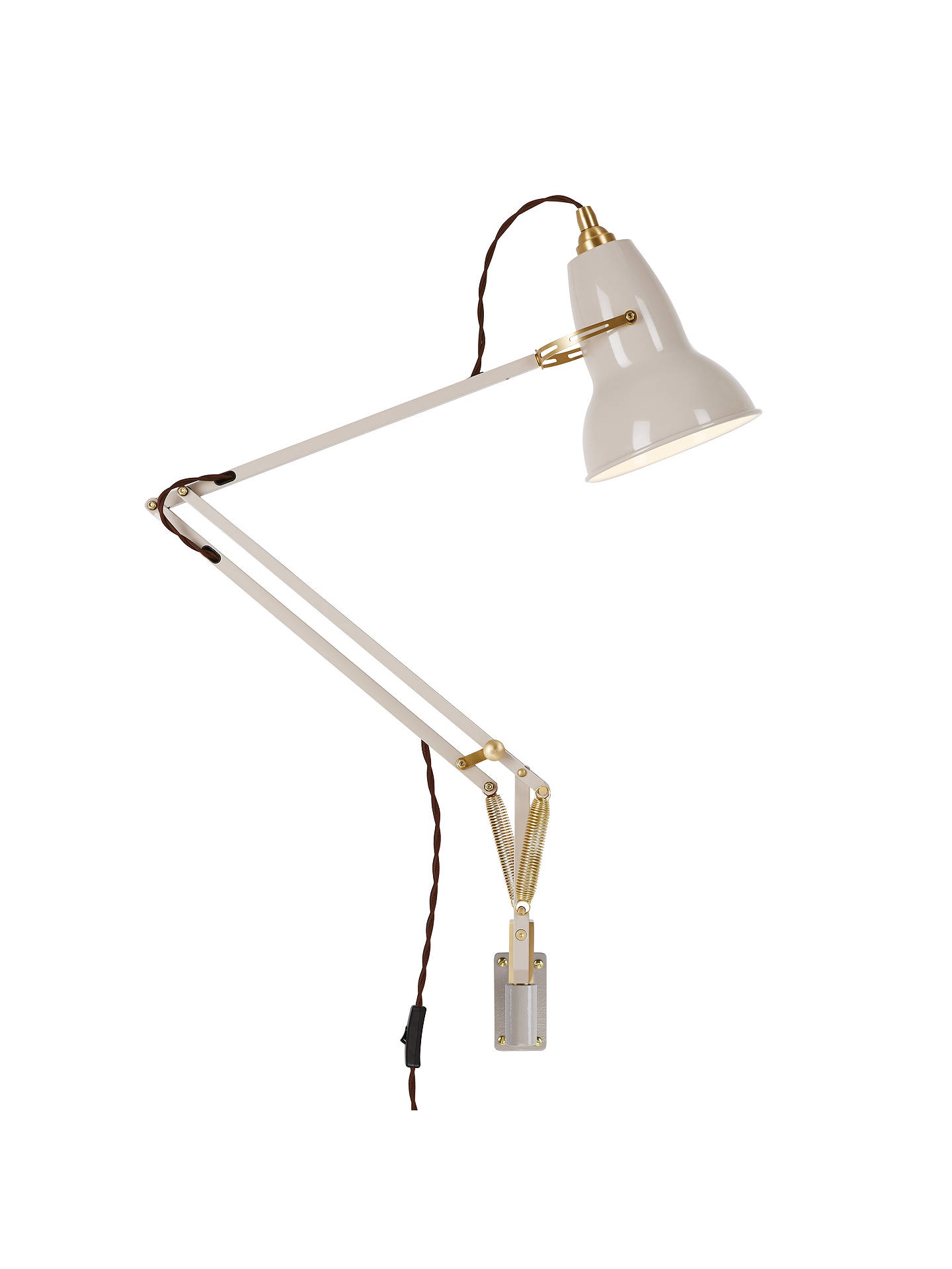 BuyAnglepoise Original 1227 Brass Wall Mounted Light, Light Taupe Online at johnlewis.com