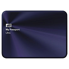 Buy WD My Passport Ultra Metal Edition Portable Hard Drive, USB 3.0, 1TB Online at johnlewis.com