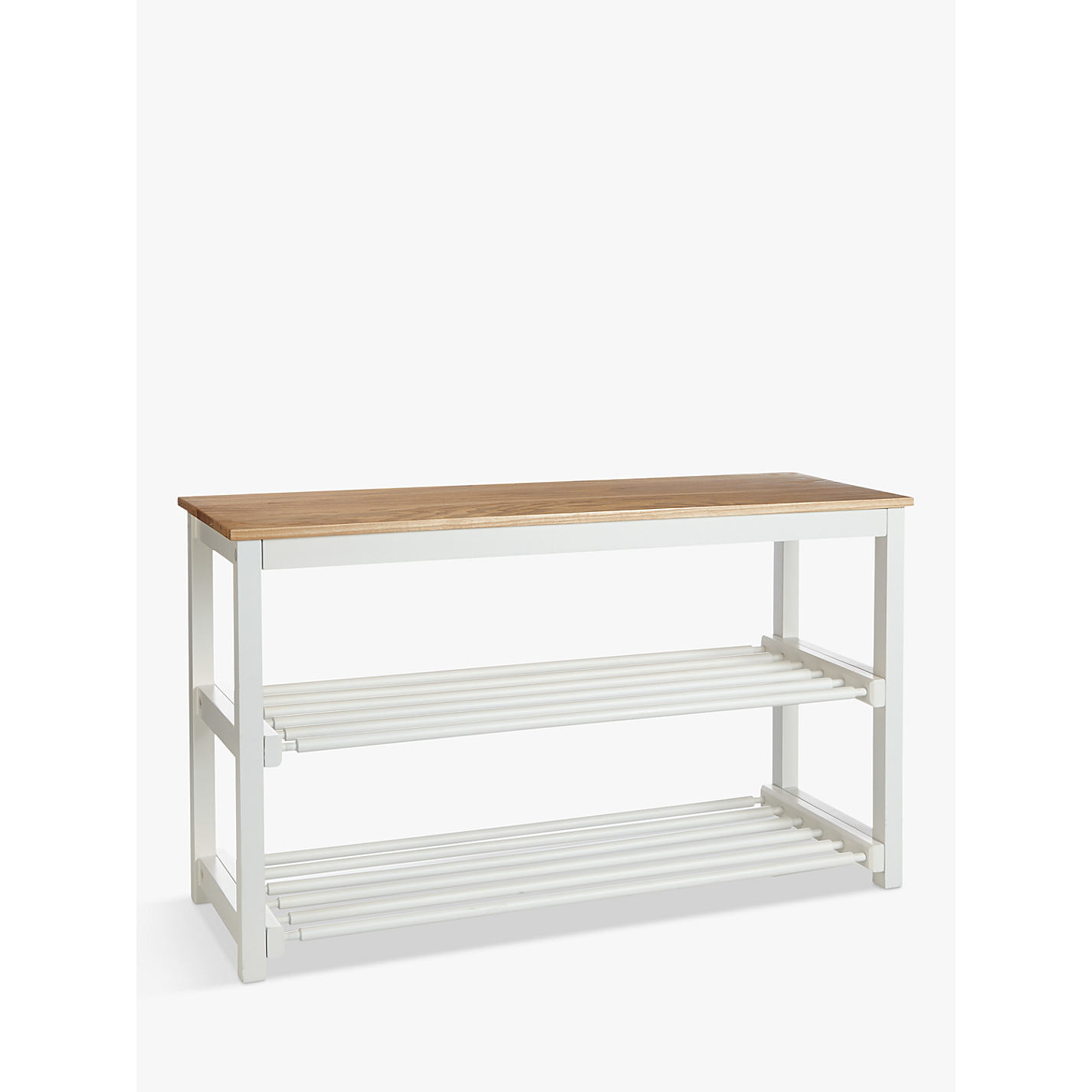 buy john lewis croft collection shoe rack lily white online at