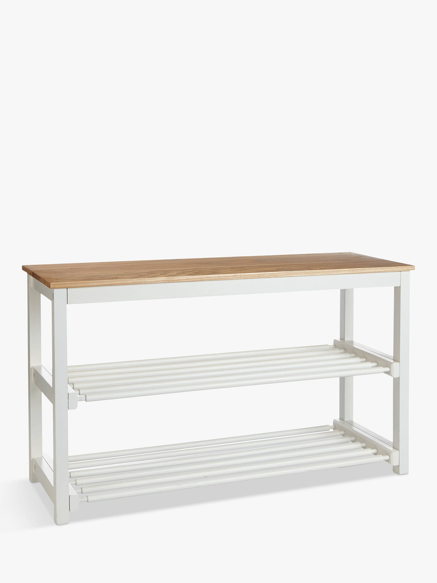 Croft Collection Wood Shoe Rack Lily White At John Lewis Partners