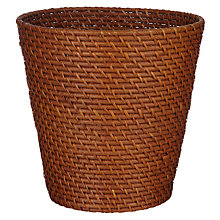 Buy John Lewis Stained Rattan Wastepaper Bin Online at johnlewis.com