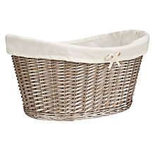 Buy John Lewis Oval Willow Laundry Basket Online at johnlewis.com