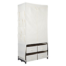 Buy John Lewis Cream Canvas Wardrobe Online at johnlewis.com