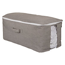 Buy John Lewis Chambray Underbed Storage Bag, Grey, Small Online at johnlewis.com