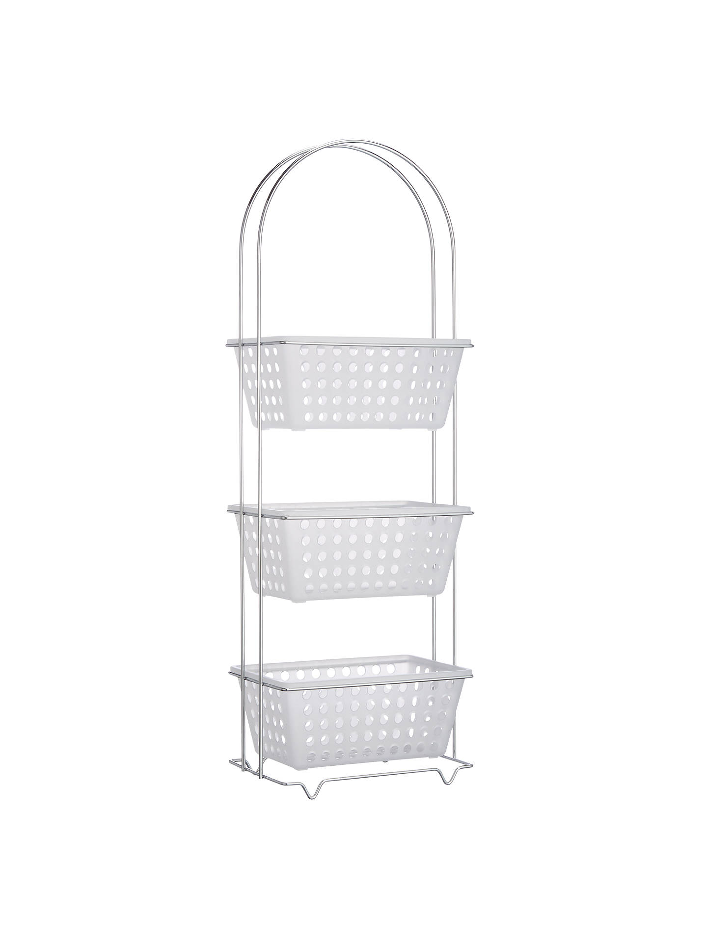 John Lewis 3 Tier Bathroom Basket Storage Unit at John ...