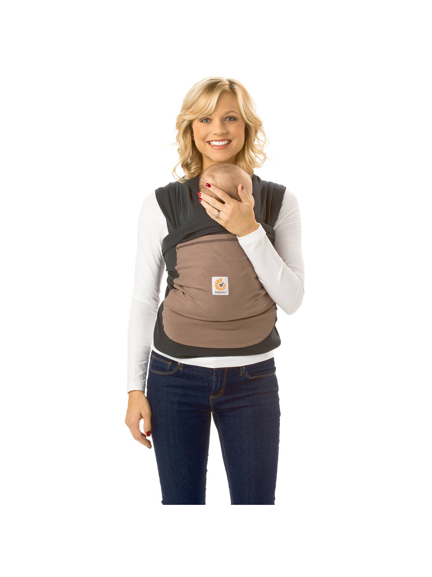 Ergobaby Wrap Baby Carrier Brown At John Lewis Partners