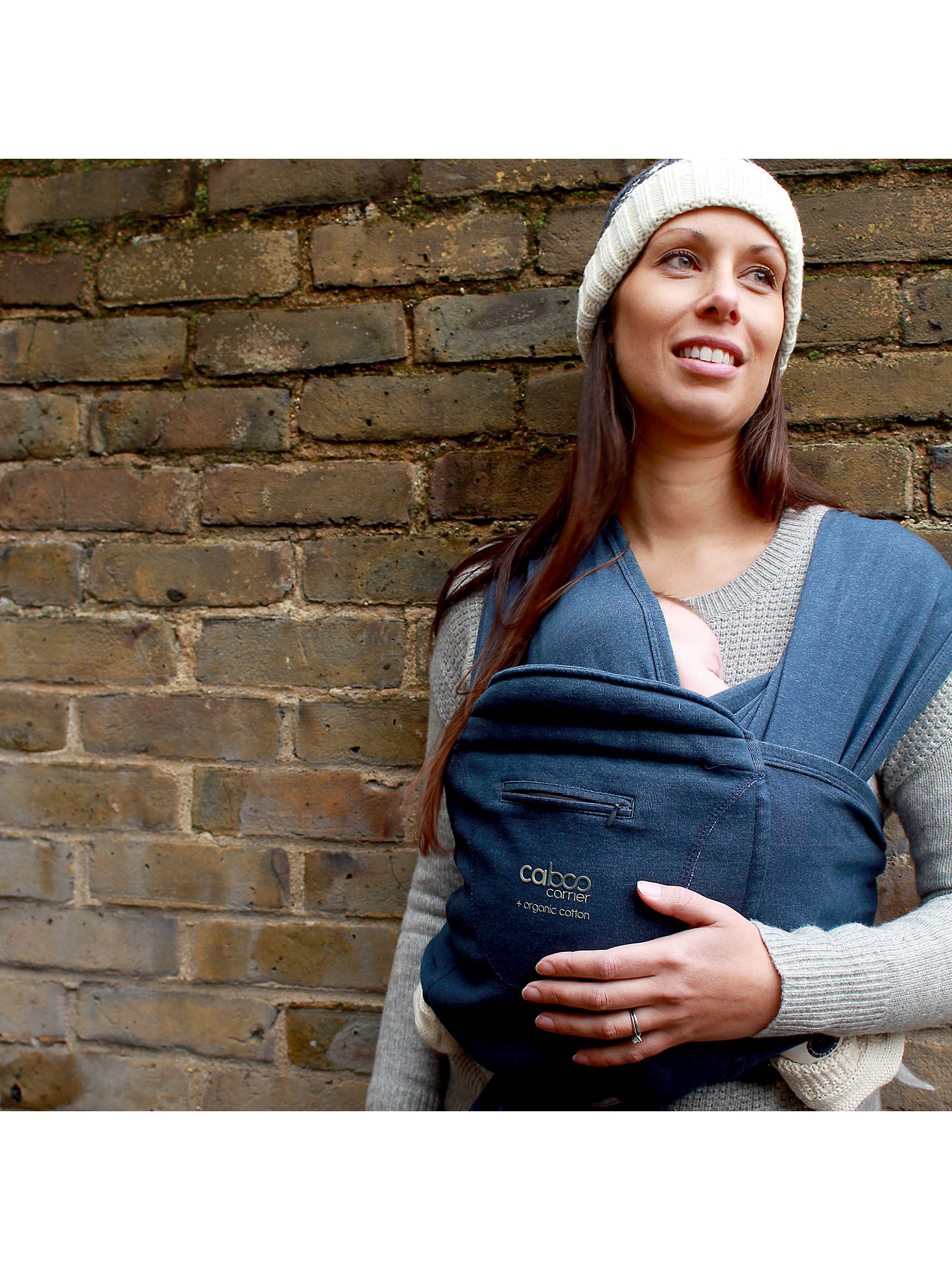 Buy Close Parent Caboo+ Organic Baby Carrier, Indigo Online at johnlewis.com