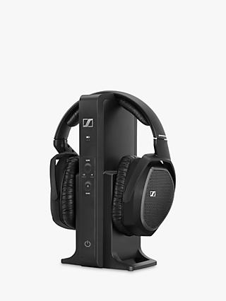 Sennheiser RS175 Over-Ear Surround Sound RF Wireless Headphones, Black