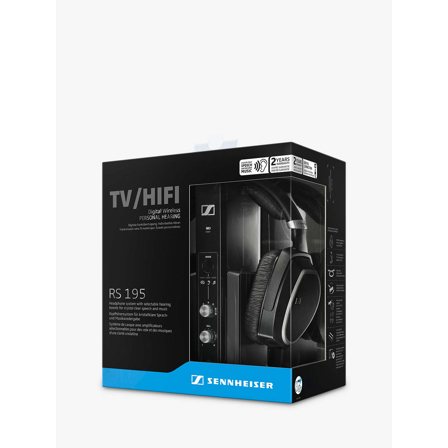 BuySennheiser RS195 Over-Ear Personal Hearing RF Wireless Headphones, Black Online at johnlewis.com